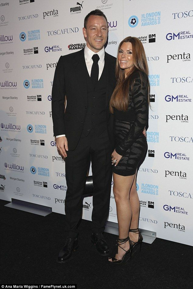 Relationship goals! John Terry and wife Toni were among guests at the London Football Awards on Thursday