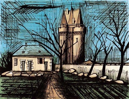 Bernard Buffet - Saint-Servan, la tour Solidor - 1985