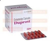 Men's Health » Duprost 0.5mg (Dutasteride) #Duprost (#Dutasteride) is used as a #hairloss treatment for conditions such as male pattern #baldness, also known as #alopecia, as well as a treatment for benign #prostatic #hyperplasia (enlarged #prostate). It is manufactured by #Cipla #Pharmaceuticals. The main ingredient inhibits DHT. prescribe4u.org/...