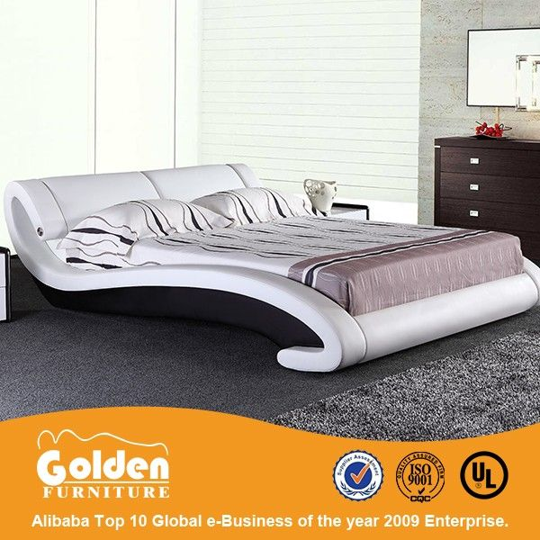 2015 Miff Home Furniture Double Size Leather Bed With Small Led Light  G1029#   Buy