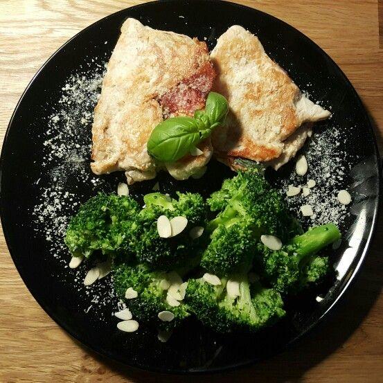 Saltimbocca mit Mandel-Butter Brokkoli
