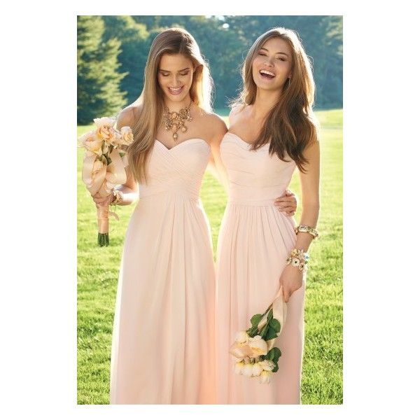 Strapless Draped Bodice Dress ❤ liked on Polyvore featuring dresses, a line dress, strapless cocktail dress, plus size dresses, strapless bridesmaid dresses and bridesmaid dresses