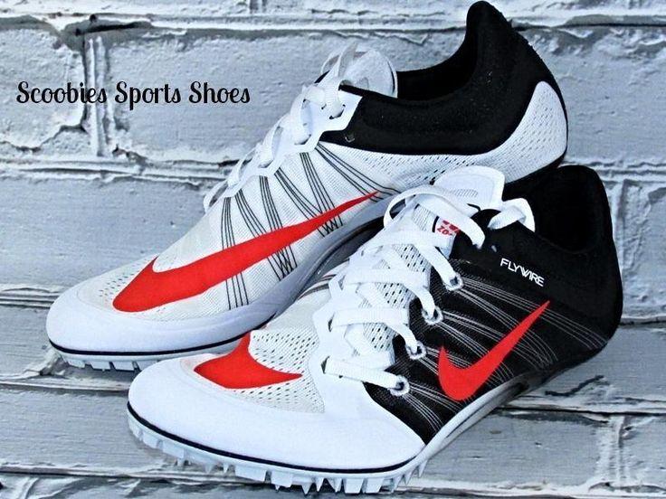 Nike Zoom JA Fly 2 Sprinters Track Running Spikes Size 8 White/Black/Atomic Red  #Nike #TrackSprintersRunningSpikes