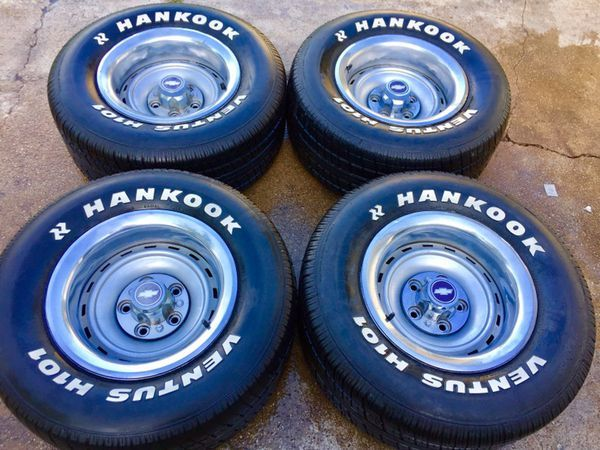 15x8 Chevy C10 Rally Wheels N 275 60 15 Tires For Sale In Dallas Tx