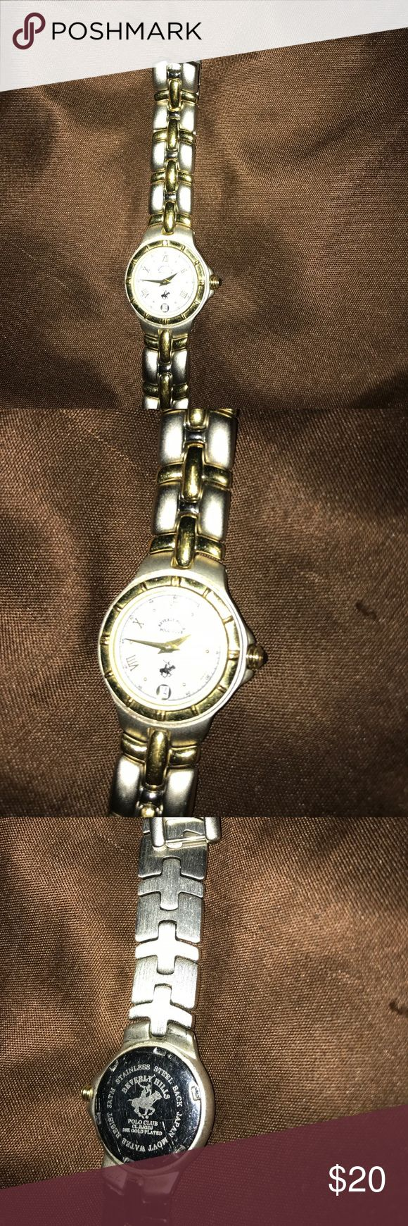 Polo watch by Ralph Lauren Two tone silver and gold ladies polo club watch. Needs battery. Small scratch on face. Polo by Ralph Lauren Accessories Watches