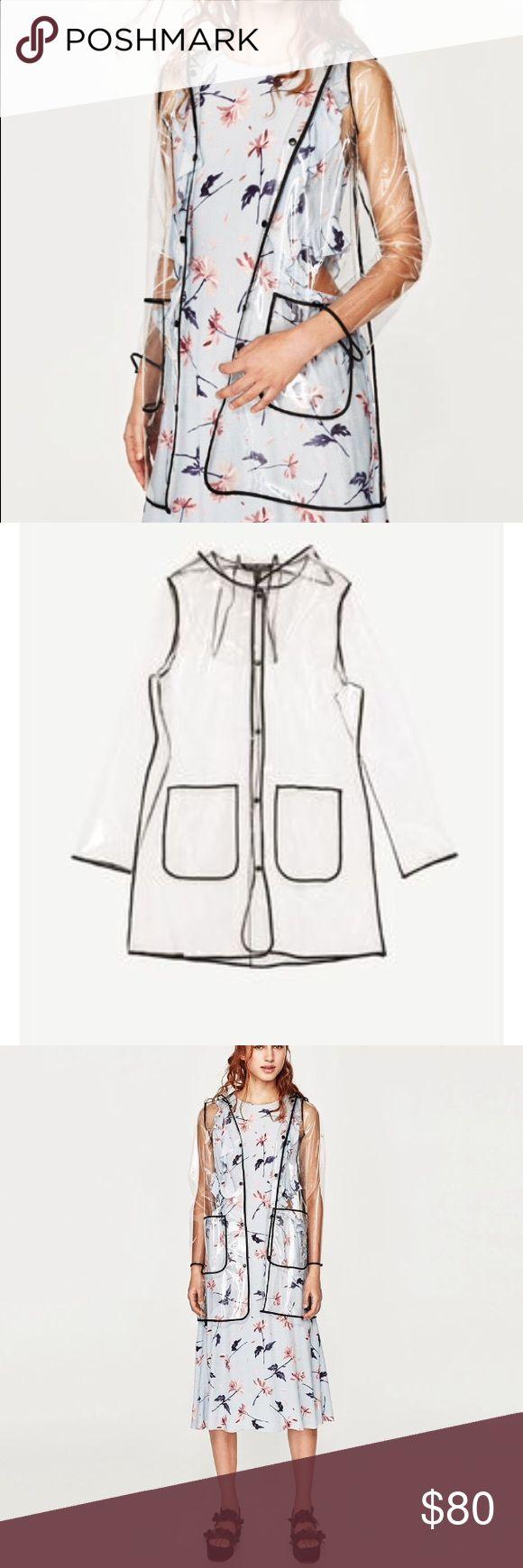 🆕 ZARA Transparent raincoat. Brand new with tags Zara Jackets & Coats