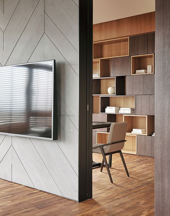 i like this cube wall storage unitbookcase very contemporary and creative wall panel designtv - Tv Wall Panels Designs