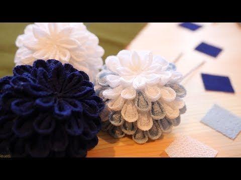 小さなお花で、大きな主張。つまみ細工に挑戦してみました。making thumbwork - YouTube