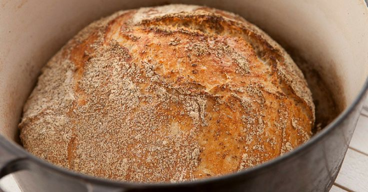 Křupavý domácí chléb bez hnětení