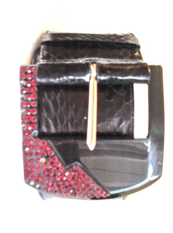 JLS Jean Louis Scherrer France Chic 80s New Old Black Snakeskin ruby RED belt Listing in the Belts & Buckles,Womens Accessories & Bags,Clothes, Shoes, Accessories Category on eBid Canada
