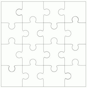 16 piece Jigsaw Template by Bird
