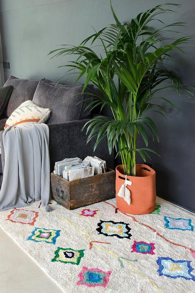NEW Basket Leaf Terracota #washablerugs #lorenacanals #blanket #ombre