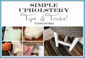 Consejos simples de tapicería y trucos {Aserrín y embriones}
