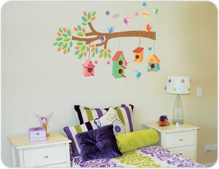 Wall Decor For Kids 67 best bird wall decals images on pinterest | bird wall decals