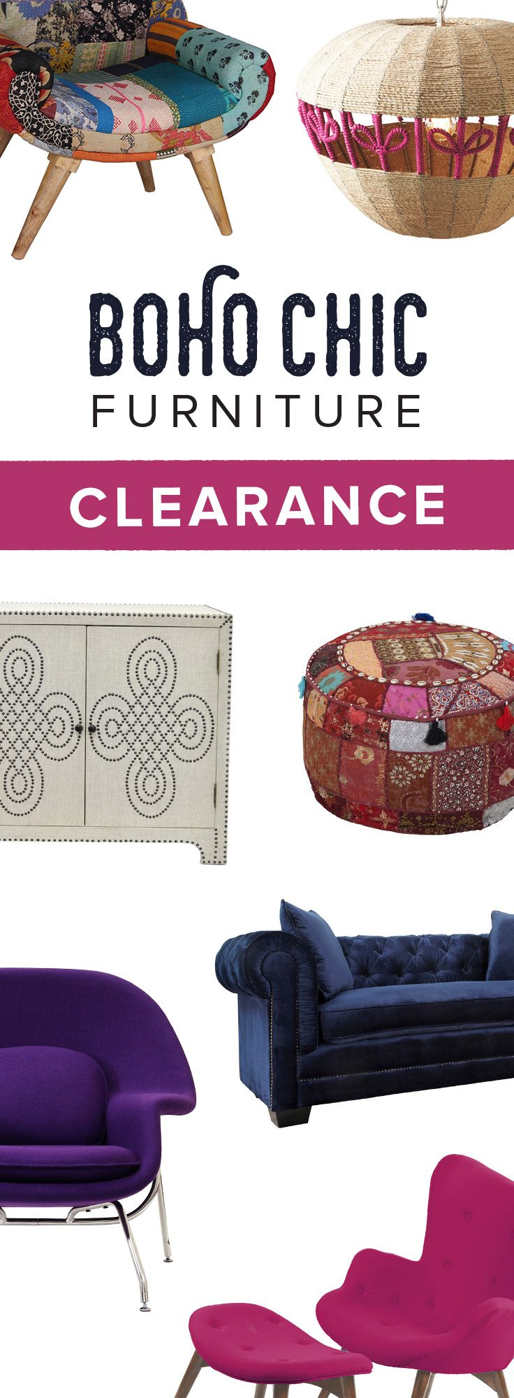 Memorial Day Weekend Clearance Sale! Shop Modern Bohemian Furniture & Décor Before It's All Gone at dotandbo.com | Sale Runs 5/22-5/25