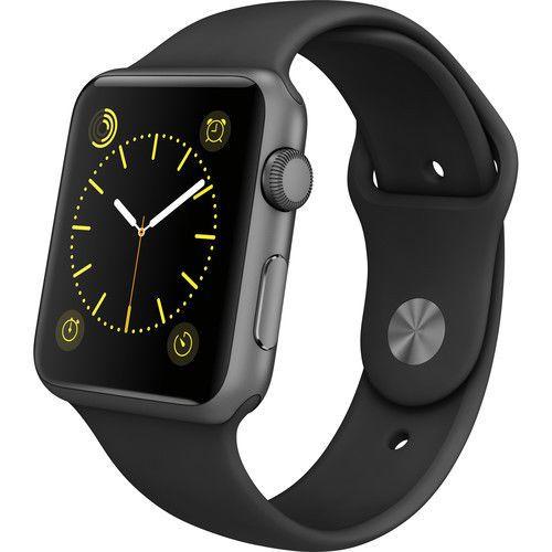 Apple Watch Gen 1 Sport 42mm Space Gray Aluminum - Black Sport Band MJ3T2LL/A #Apple