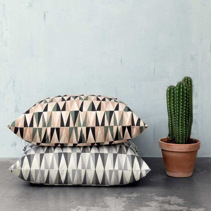 Ferm Living - Spear Floor Cushion, Kissen, 80x80, Ambiente
