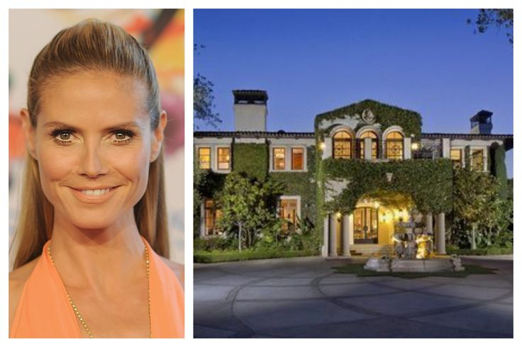 The model and television personality lists her Italian villa-style mansion.