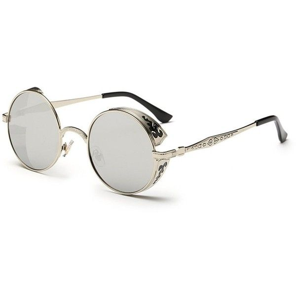 Coolsunny Vintage Hippie Retro Metal Round Circle Frame Sunglasses... ($13) ❤ liked on Polyvore featuring accessories, eyewear, sunglasses, round metal sunglasses, retro circle sunglasses, hippie sunglasses, circle sunglasses and circular sunglasses