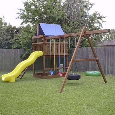 Build your own outdoor playset woodworking projects plans for Outdoor structure plans