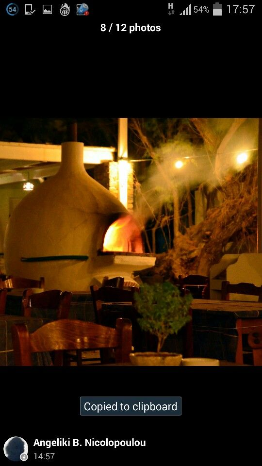 sifnos - manolis taverna clay oven - παραδοσιακός ξυλοφουρνος