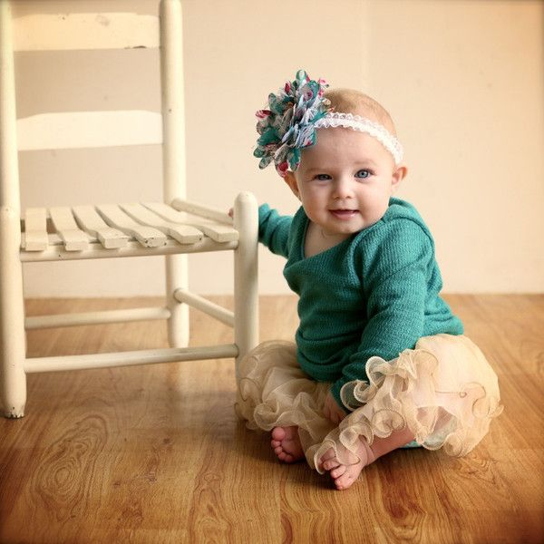 Love the edging on the tutu dress and the texture and quality of the green cotton blend. Glorious vintage feel for babies.