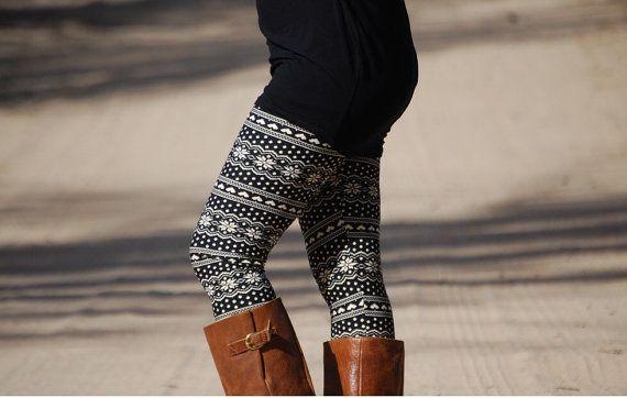 Black Aztec Tribal Heart Leggings, Womens Leggings, Printed Leggings, Yoga Leggings, Workout Leggings, Yoga Pants, Tights, BEST SELLER
