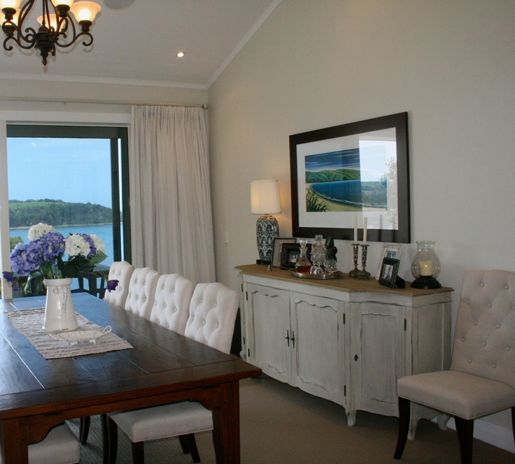 Hoalyoake Dining Room - featuring our Rosillain Sideboard and York dining chair.