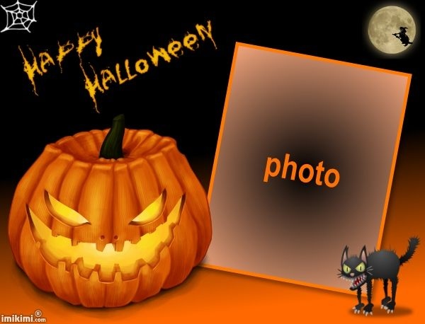 You can add your own Halloween photo's in this frame for free!  Just click on the photo and join Imikimi.com, a free photo editor with tons of amazing features!