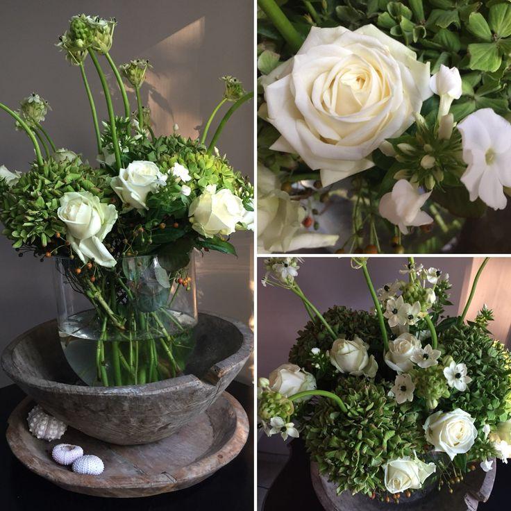 Bloemen gehaald op de bloemenmarkt in Utrecht