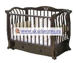 Детская кроватка Можга (Красная Звезда) Аэлита С-888 Птички с инкрустацией