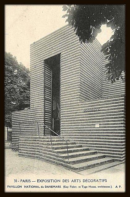Pavillon du Danemark -   Architectes: Kay Otto Fisker [1893-1965] &   Tyge Hvass [1885-1963]