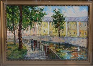 Городской пейзаж - Городской пейзаж <- Картины маслом <- Картины - Каталог | Универсальный интернет-магазин подарков и сувениров