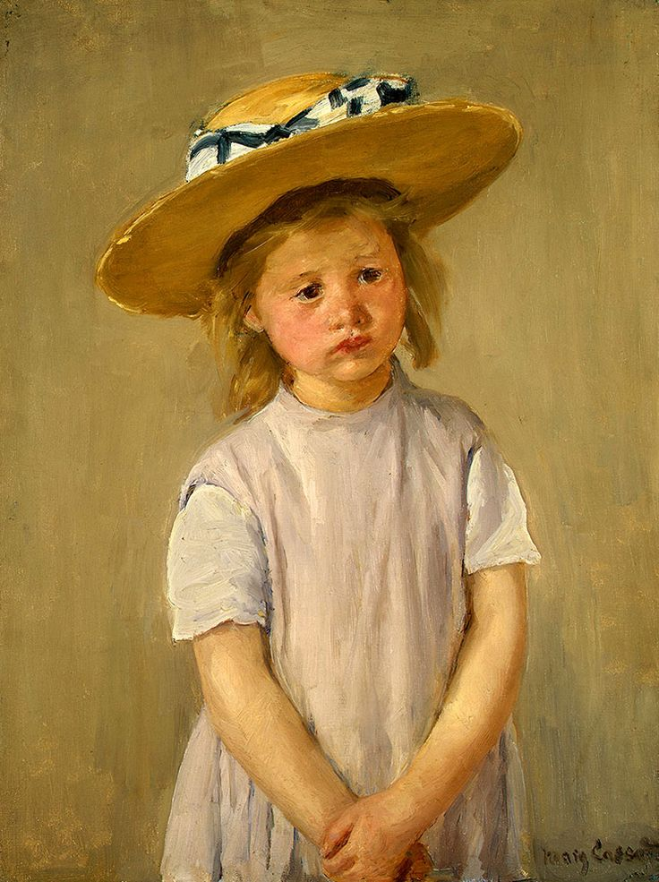 "Cassatt Mary - Child In Straw Hat c1886  (from <a href=""http://www.oldpainters.org/picture.php?/51002/category/16491""></a>)"