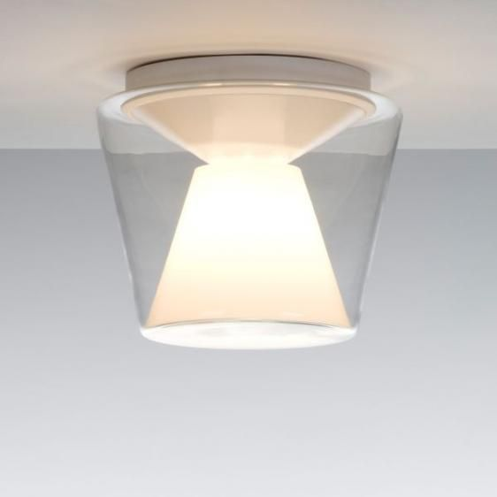 Annex plafon (klosz transparentny z reflektorem opalowym, średnica klosza 9.8 cm) - Serien | Designerskie Lampy & Oświetlenie LED