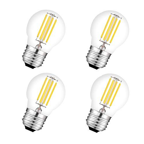 Bombilla Led G45 E27 Filamento 4w Equivalencia 40w 450lm Cristal Vintage Mini Bombilla Globo 4 Unidades Light Bulb Home Decor Decor