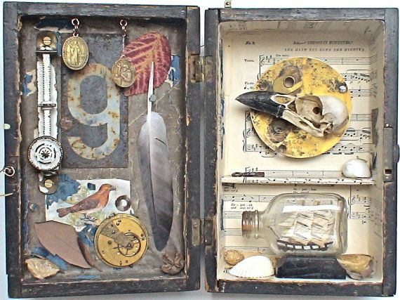assemblage art - 'the mighty'