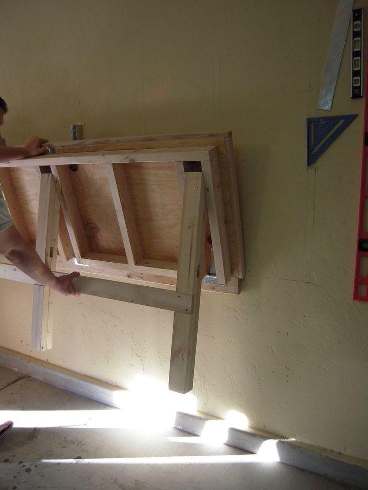 Fold Down Work Bench For My Garage Work Shop Home Ideas