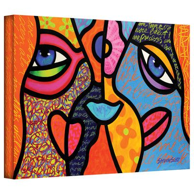 Art Wall 'Eye to Eye' by Steven Scott Painting Print on Canvas