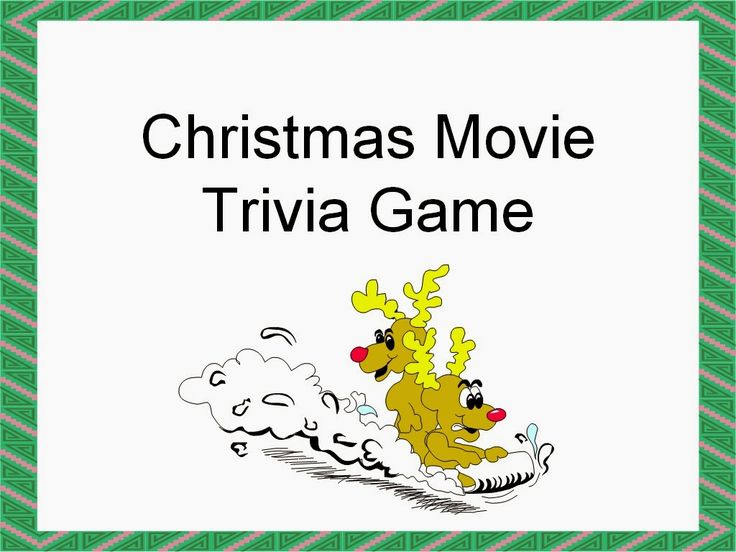 Famous Christmas Movie Quotes Trivia Game on slideshow format