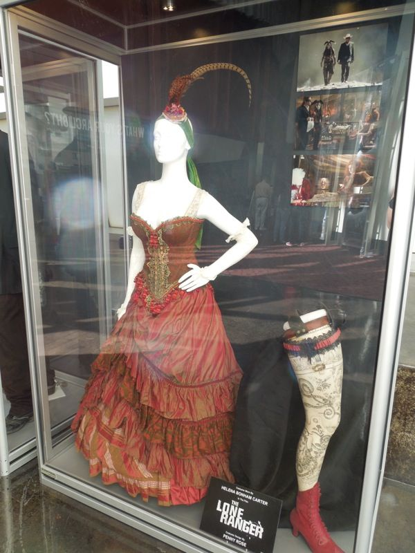 Helena Bonham Carter Lone Ranger costume   Very steampunk...or late 1970's dress dyed red.