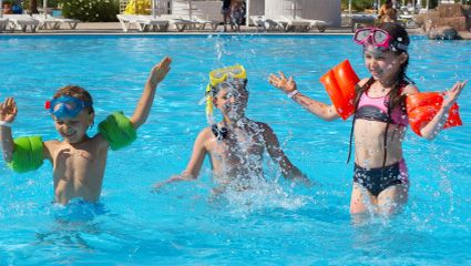 If only we had eyes at the back of our heads... As much as we'd like to, we can't always see what our kids get up to. And when they're playing in the pool, it's better to be safe than sorry. Swimming aids will give you peace-of-mind. Visit www.checkers.co.za for more.