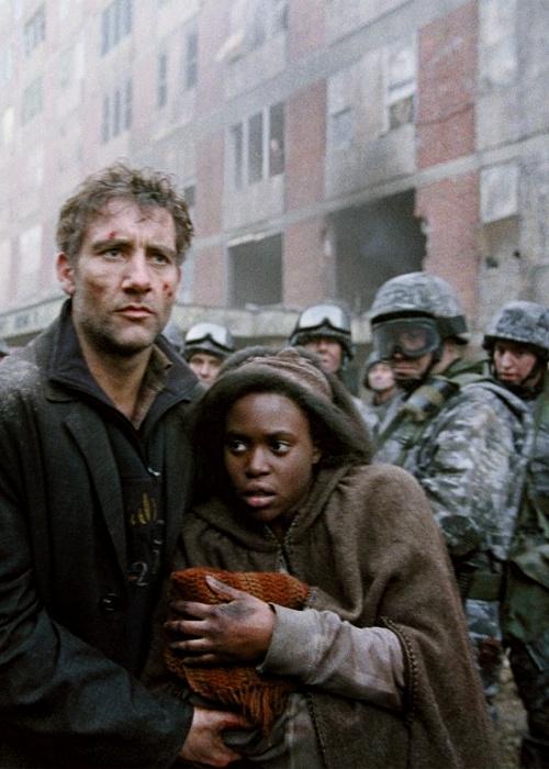 Clive Owen andClare-Hope Ashitey in Children of Men