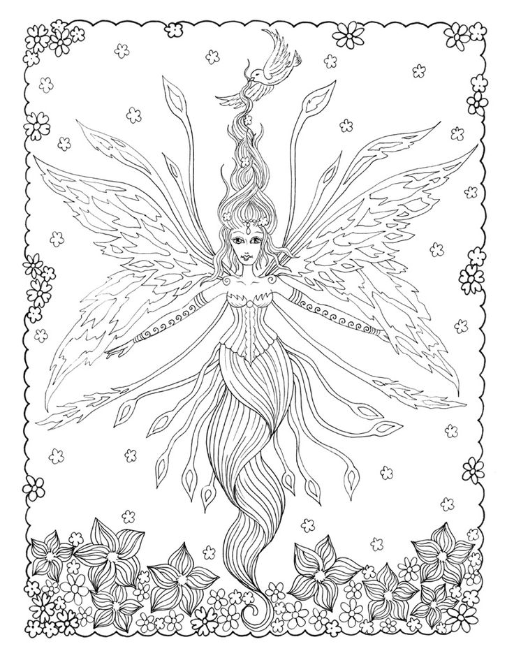 380 best coloring people mermaid fairy images on Pinterest