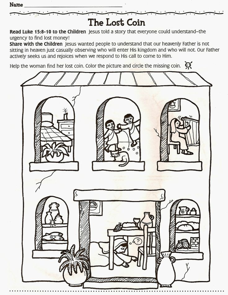 Free Coloring Pages Of Parable The Lost Coin