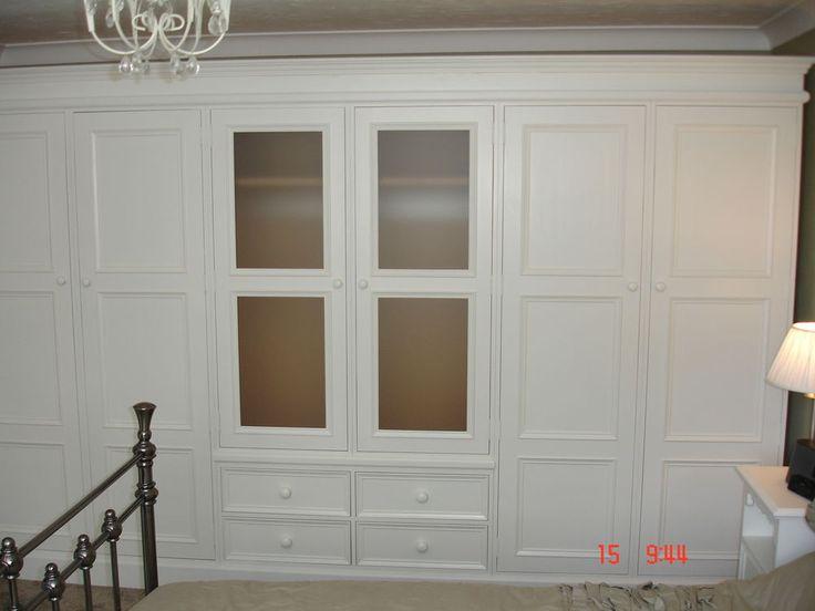 Ivory Painted Glazed Shabby Chic Large 6 Door Handmade Solid Pine Wardrobe