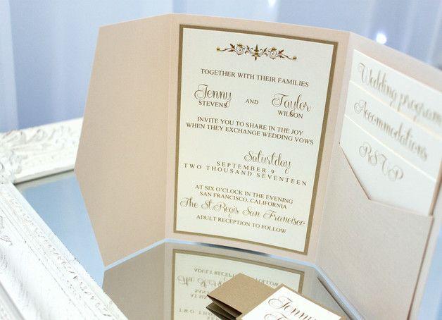 tichworte hochzeitseinladung hochzeit einladung zur hochzeit hochzeitskarte einladungskarte hochzeits einladung handgefertigt einladungen weiß gold elfenbein vintage einladungs luxus beige creme crema ivy ivory