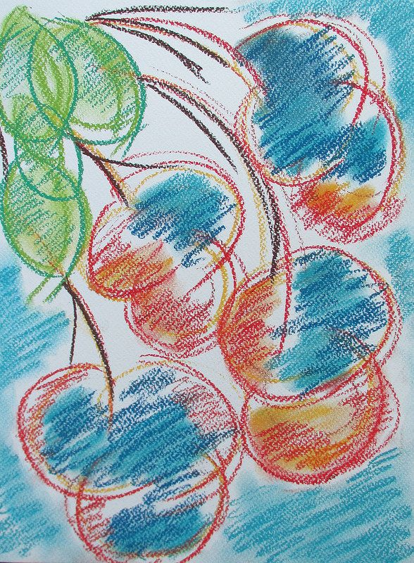Tree blossom #art #pastels #tree #blossom #spring #abstract #finland #drawing #nature #helsinki