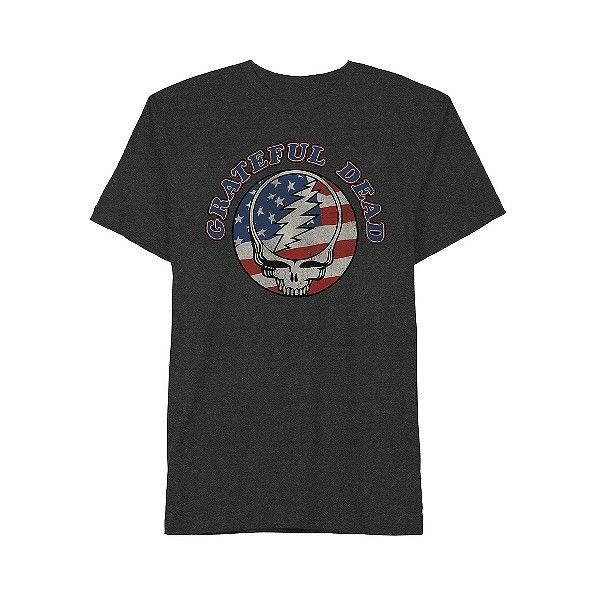 Grateful Dead Men's Americana T-Shirt Charcoal , Gray (13 AUD) ❤ liked on Polyvore featuring men's fashion, men's clothing, grey, mens clothing, african american men's fashion, native american mens clothing and men's apparel
