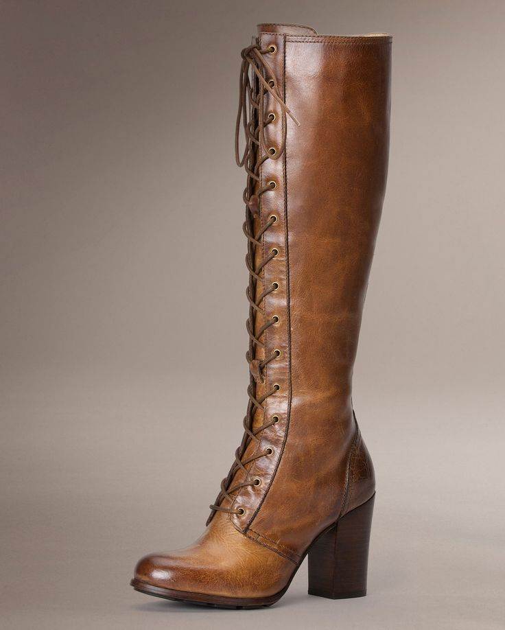 Parker Tall Lace Up - Women_Boots_Tailored - The Frye Company
